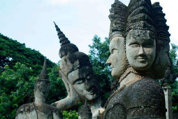 Parque Budda, Vientiane.