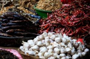 Mercado en valle de Katmandú